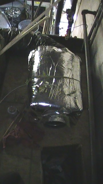 Solar Heat Exchanger in place